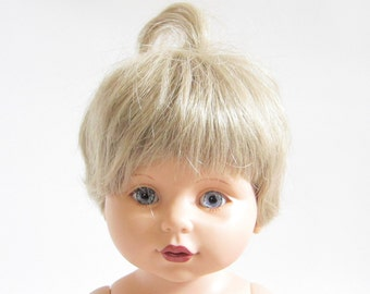 Blonde Baby So Beautiful Doll Vintage Baby Girl with Blue Eyes, Rooted Eyelashes