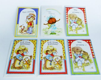 70s vintage greeting cards, happy birthday cards, vintage birthday cards