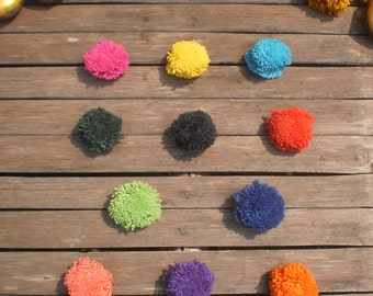 100 Pom Poms HandMade Beautiful .. You Can Choose Your Colors