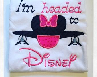 Disney Applique Shirt, I'm Headed to Disney Applique Shirt