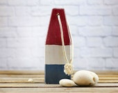 Beach Decor, Old-style lobster float buoy, Dark Red, White, Dark Blue, Vintage Style, Nautical, by SEASTYLE