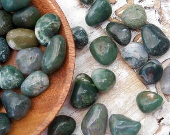 Moss Agate Tumbled Healing Stones