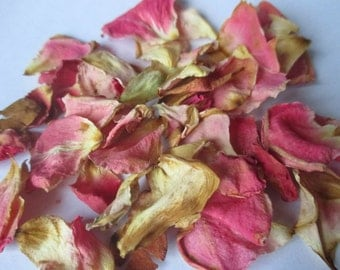 2 Cups Dried Pink Rose Petals