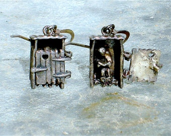 Sterling Silver Outhouse Earrings