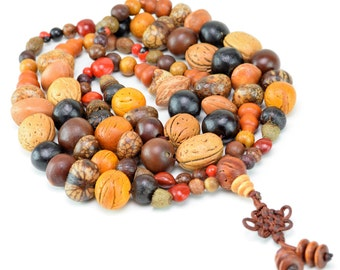 "7x5-20x15mm 18 Kinds of Mix Seed Prayer Nugget Loose Beads Bracelet Necklace 40"" (50554-241)"