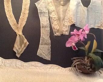 Lot of four antique collars.