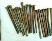 Square nails, vintage carpenter's nails, Handmade nails, Anchor nails, Decking nails, Rusty nails.....