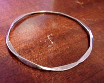Handmade Sterling Silver bangle, Silver bangle bracelet, Hand Fashioned bangle....