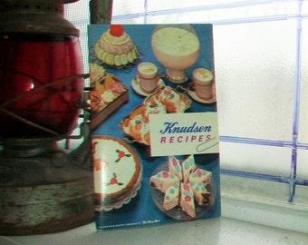 Vintage Cookbook Knudsen Recipes by Knudsen Dairy Products 1962