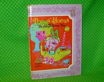 Mattel POCUS HOCUS and The Magic House Tree Book Upsy Downsy Storybook 1969 Toys Storybook
