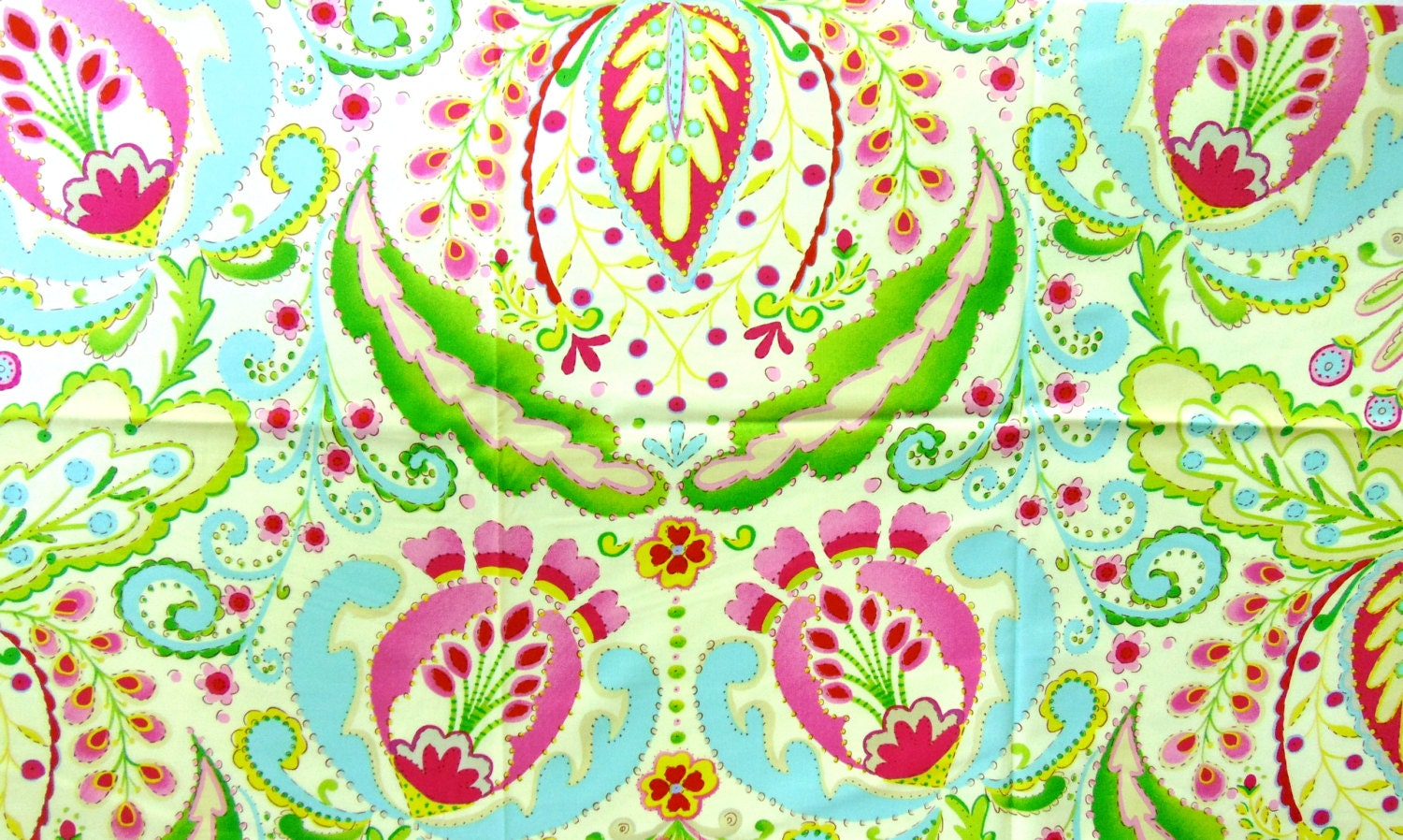 Fabric kumari garden teja pink dena designs 42 x for Kumari garden fabric by dena designs