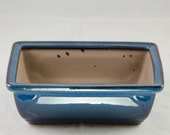 """Rectangular Dark Blue Shohin Bonsai Pot 8""""x6""""x2.75"""""""