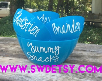 Personalized POPCORN Bowl Set, Christmas Gift, Fathers Day Gift, Hostess Gift