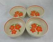 Vintage Lenox Temper-Ware 'Fire Flower' Cereal Soup Bowls - 4TTL