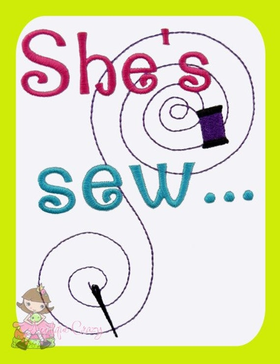 She's Sew... Embroidery design