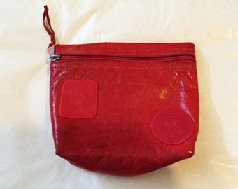 Carlos Falchi Red Leather Coin Purse