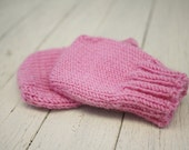 Newborn Merino Mittens, Candy Pink - Ready to Ship