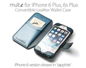 iPhone 6 Plus / 6s Plus Convertible Leather Wallet Case - No Plastic - Free Inscription