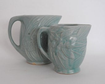Nelson McCoy Angel Fish Pottery Pitchers