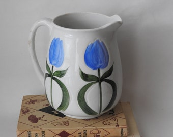 Antique Wheeling Pottery Tulip Pitcher