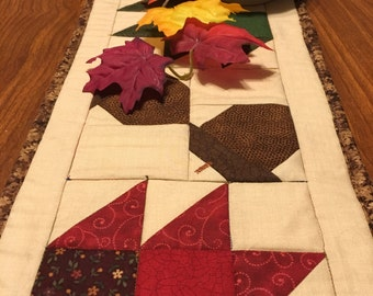 Table Runner - Quilted - Handmade - Table Topper - Fall - Thanksgiving - Scrappy