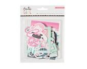 Crate Paper Cute Girl Ephemera Pieces-- MSRP 5.00