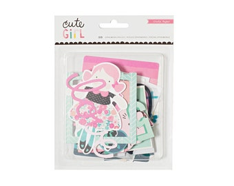 Crate Paper Cute Girl Ephemera Pieces-- MSRP 5.00