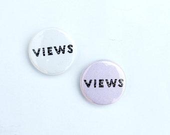 Views Drake pin White or Pink