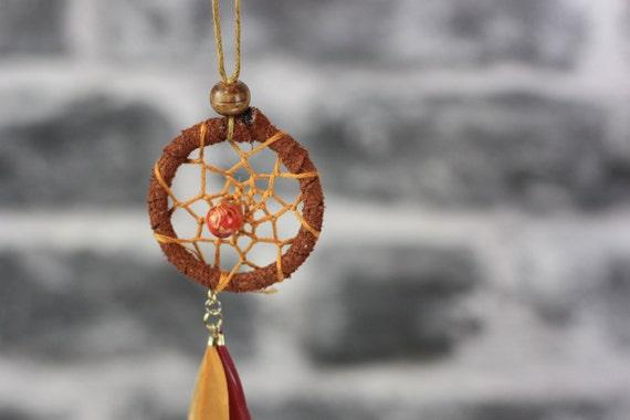 FEATHER DREAMCATCHER NECKLACE - Statement Necklace - Dreamcatcher - Bohemian - Boho chic - Festival necklace - Prayer Jewellery - Vintage