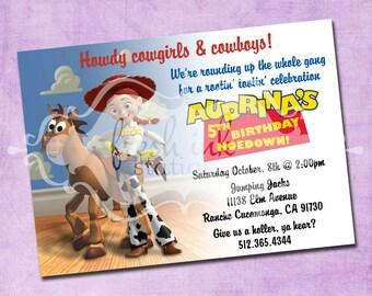 Jessie and Bullseye Toy Story Birthday Invite