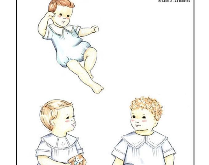Boys Heirloom Bubble Pattern With 3 Collar Options by Creations by Michie #111