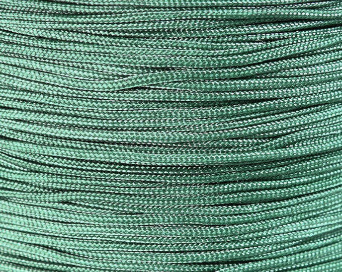 1mm green nylon cord - nylon thread - chineese Knotting Cord - Macrame thread (1476) - Flat rate shipping