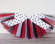 "Red, Black & White ""Valentina"" Tutu women's adult tutu - teen tutu juniors sizes costume tutu dance tutu birthday tutu"