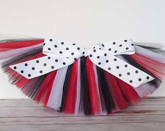 "Red, Black & White ""Valentina"" Tutu women's adult tutu - teen tutu juniors sizes costume tutu dance tutu birthday tutu"