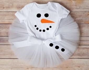 Snowman costume, snowman tutu, snowman outfit winter baby girl outfit girls snowman tutu costume Christmas tutu outfit toddler snowman set