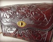 RESERVED Hand Tooled Vintage Leather Purse