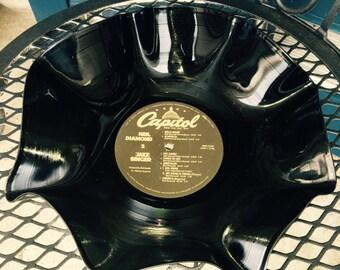 Neil Dismond record bowl, decorative bowl, vinyl bowl, home decor