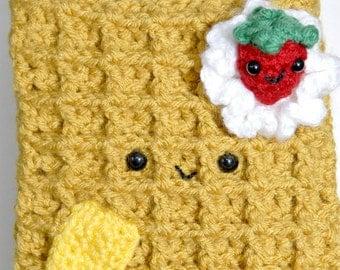 Waffle Crochet Hip Purse -Crochet Purse- Crochet-Women Purse-Kawaii-Bags-Crochet-Crochet Waffle