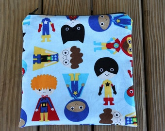 Reusable Sandwich Bag, Super Boys - ZIPPER Sandwich Bag