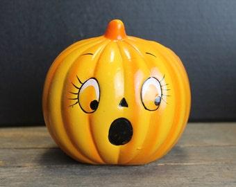 Vintage Ceramic Pumpkin Vase // Fall Decor // Autumn Decor // Halloween Decor