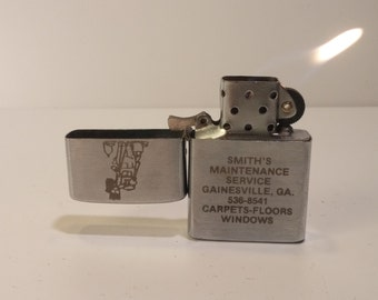 1960s hi-lite KOREA flip-top ADVERTISING windproof lighter  -  rehabbed with new flint, zippo wick and  fuel cotton - good daily user