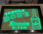 Extra Large LED Acrylic edge lit framed sign with your logo or graphics