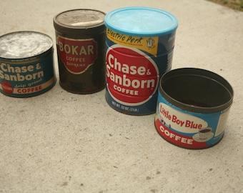 Vintage Coffee Cans, Home Decor, Garden Decor, Trending Spring, Trending Garden, Chase & Sunburn, Little Boy Blue, Bokar