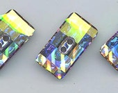 One Swarovski chessboard button - hard to find and so beautiful! - Art 3093 - 21 x 11 mm - crystal AB