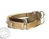 """Mix and Match Martingale - 3/4"""" (19mm) Wide Martingale - Nylon dog collar - Choice of Color - Nylon Martingale Dog Collar - Adjustable"""