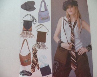 Simplicity 5308 - Cool Ladies Accessories - Purses, Cap, Tie, CD Wallet - Easy & Fun Projects - UNCUT