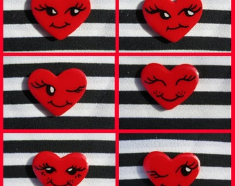 VALENTINE SPECIAL- Silly Mini Heart Brooches