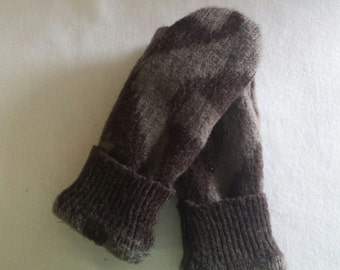 Mittens Recycled from Acrylic Sweaters, Fleece Lined -Women's  Mitten