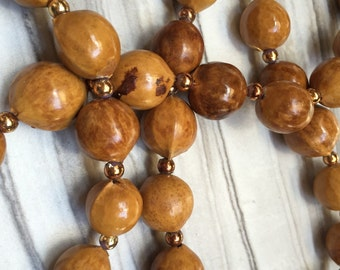 Beaded Wood Necklace