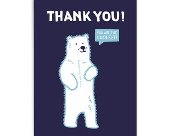 """Thank you card """"You are the coolest"""""""